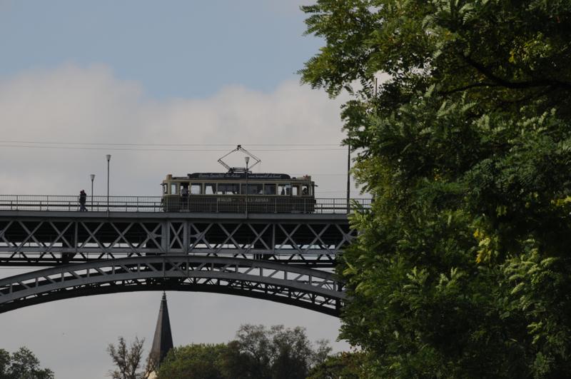 Kirchenfeldbrücke mit alter Tram