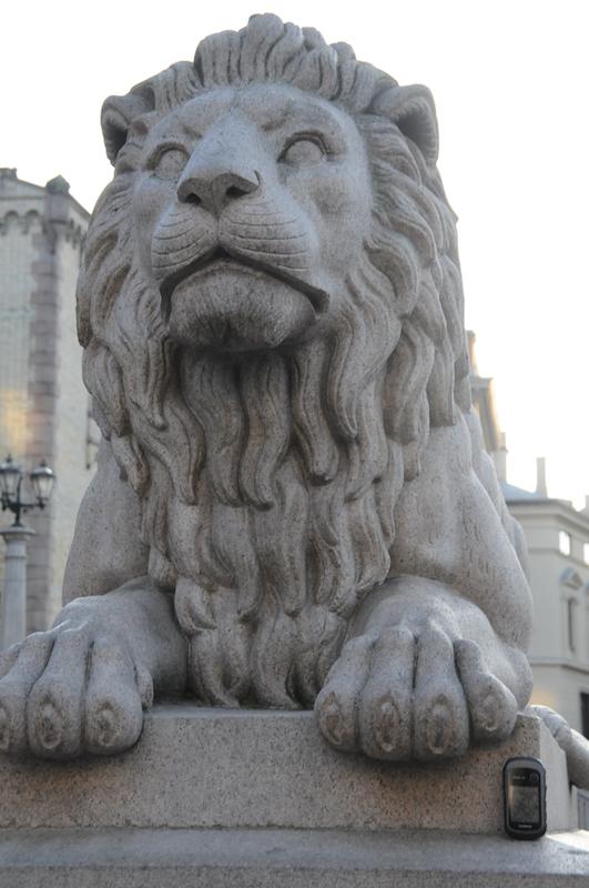 Der Löwe bewacht das GSPie