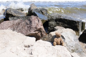 Simon macht Pause am Strand
