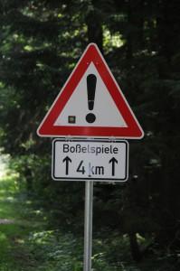 vorsichtig fahren!